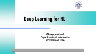 Deep Learning for NL