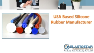 Extruded Silicone Ruber Tubing by Elastostar Rubber Corp