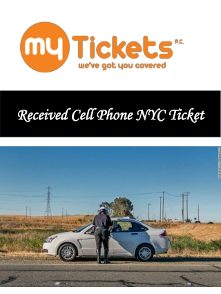 Received Cell Phone NYC Ticket