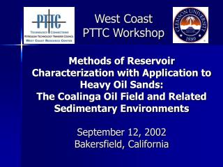 West Coast  PTTC Workshop
