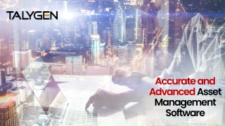 Accurate and Advanced Asset Management Software