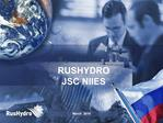 RUSHYDRO JSC NIIES