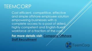 Company Offshore Staff Recruitment