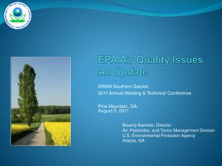 EPA Air Quality Issues An Update