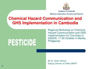 Chemical Hazard Communication and GHS Implementation in Cambodia