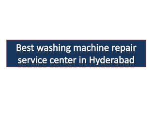 Whirlpool top load washing machine repair center in secunderabad