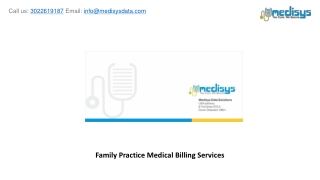 Family Practice Medical Billing Services