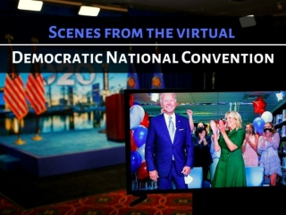 Scenes from the virtual Democratic National Convention