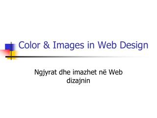 Color & Images in Web Design