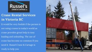 Crane Rentals BC | Boom Truck Rentals