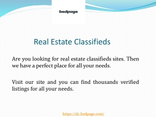 Real Estate Classifieds
