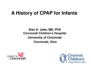 A History of CPAP for Infants
