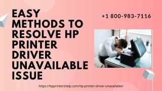 Hp Printer Driver Unavailable Fixes 1-8009837116 Printer Driver Is Unavailable Hp