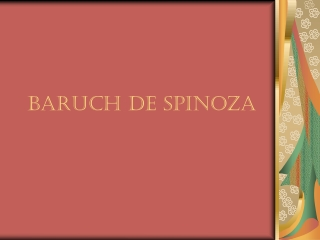 Spinoza s Ethics