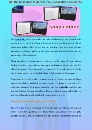 Snap Folder