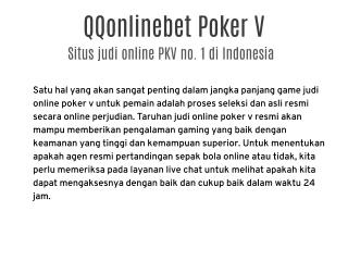 QQonlinebet Situs Poker V Online