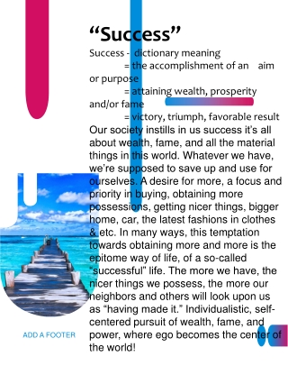 """""""Success"""" Success - dictionary meaning"""