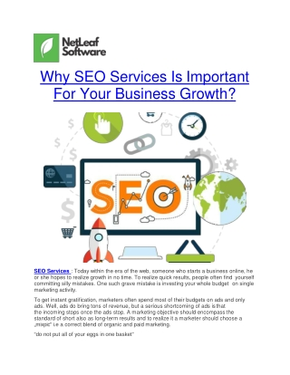 Why SEO Services Is Important For Your Business Growth?