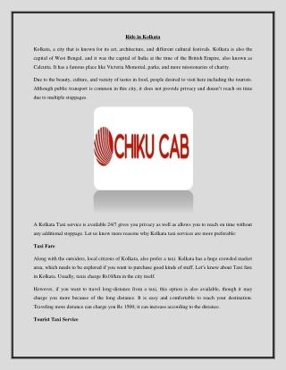Hire Cab service in kolkata
