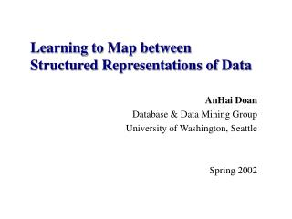 Learning to Map between  Structured Representations of Data