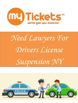Need Lawyers For Drivers License Suspension NY