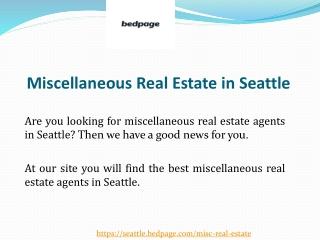 Seattle Miscellaneous Real Estate