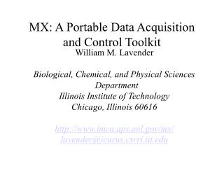 MX: A Portable Data Acquisition and Control Toolkit
