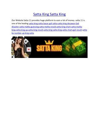 Satta King Satta King