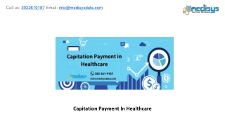 Capitation Payment In Healthcare