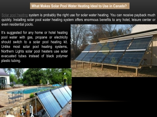Purchase Solar Pool Heating Systems - Northern Lights Solar Solutions