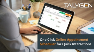 One-Click Online Appointment Scheduler for Quick Interactions