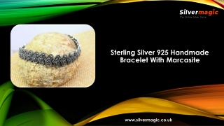 Sterling Silver 925 Handmade Bracelet With Marcasite