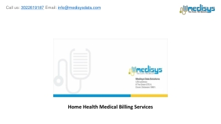 Home Health Medical Billing Services