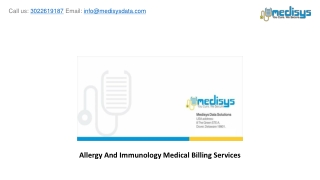 Allergy And Immunology Medical Billing Services