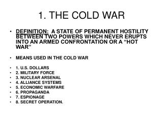1. THE COLD WAR