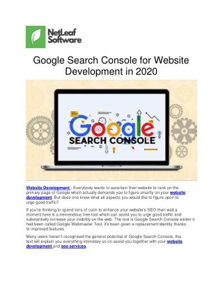 Google Search Console for Website Development in 2020
