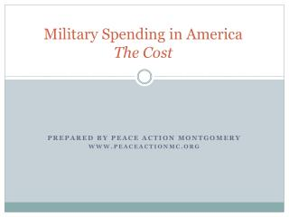 Military Spending in America The Cost