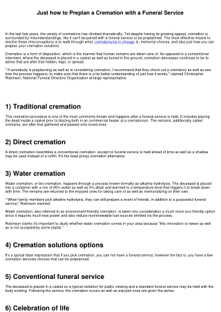 How to Preplan a Cremation with a Funeral Service
