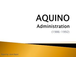 PHC - AQUINO Administration ©JOVIEDAYON