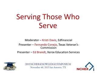 Texas Veterans Commission Fernando Conejo Veterans Education
