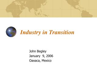 Industry in Transition