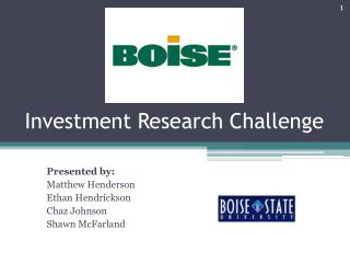 Investment Research Challenge