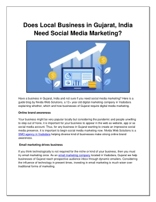 Does Local Business in Gujarat, India Need Social Media Marketing?