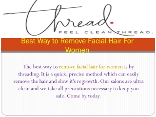 Best Way to Remove Facial Hair For Women