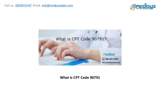 What Is CPT Code 90791?