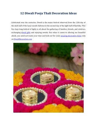 12 Diwali Pooja Thali Decoration Ideas