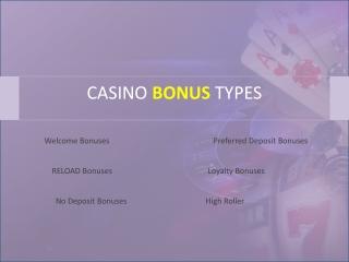 Best Casino Bonus Types in 2020