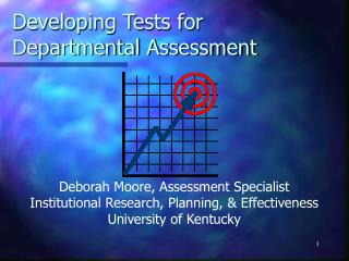Developing Tests for Departmental Assessment