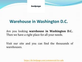 Warehouse in Washington D.C