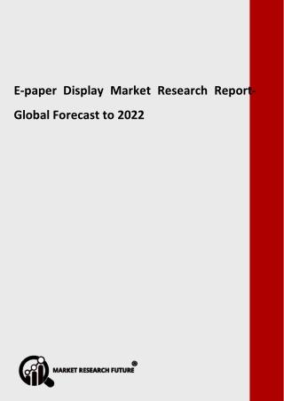 ePaper Display Market
